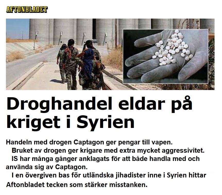 Captagon, Aftonbladet juli 2016