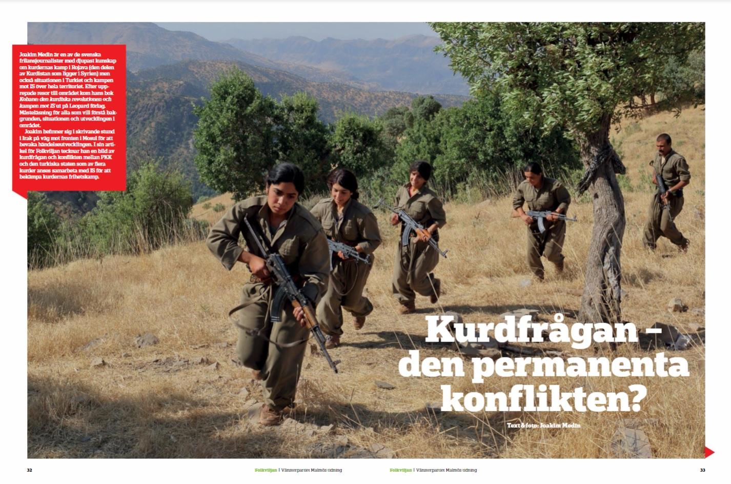 Kurderna, Folkviljan sep 2016