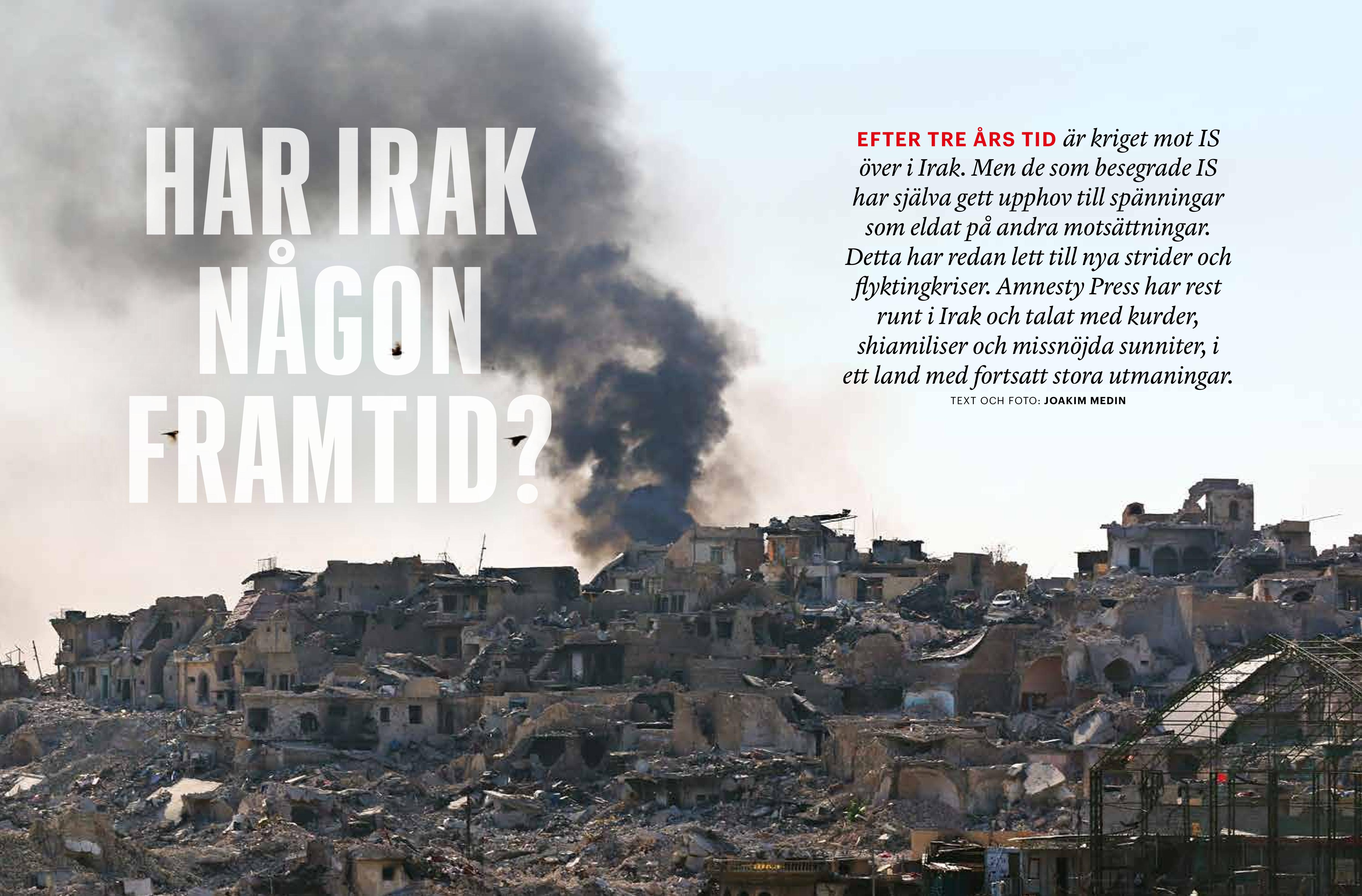 Irak, Amnesty Press, dec 2017