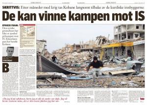Kobane, Klassekampen 2015-01-17