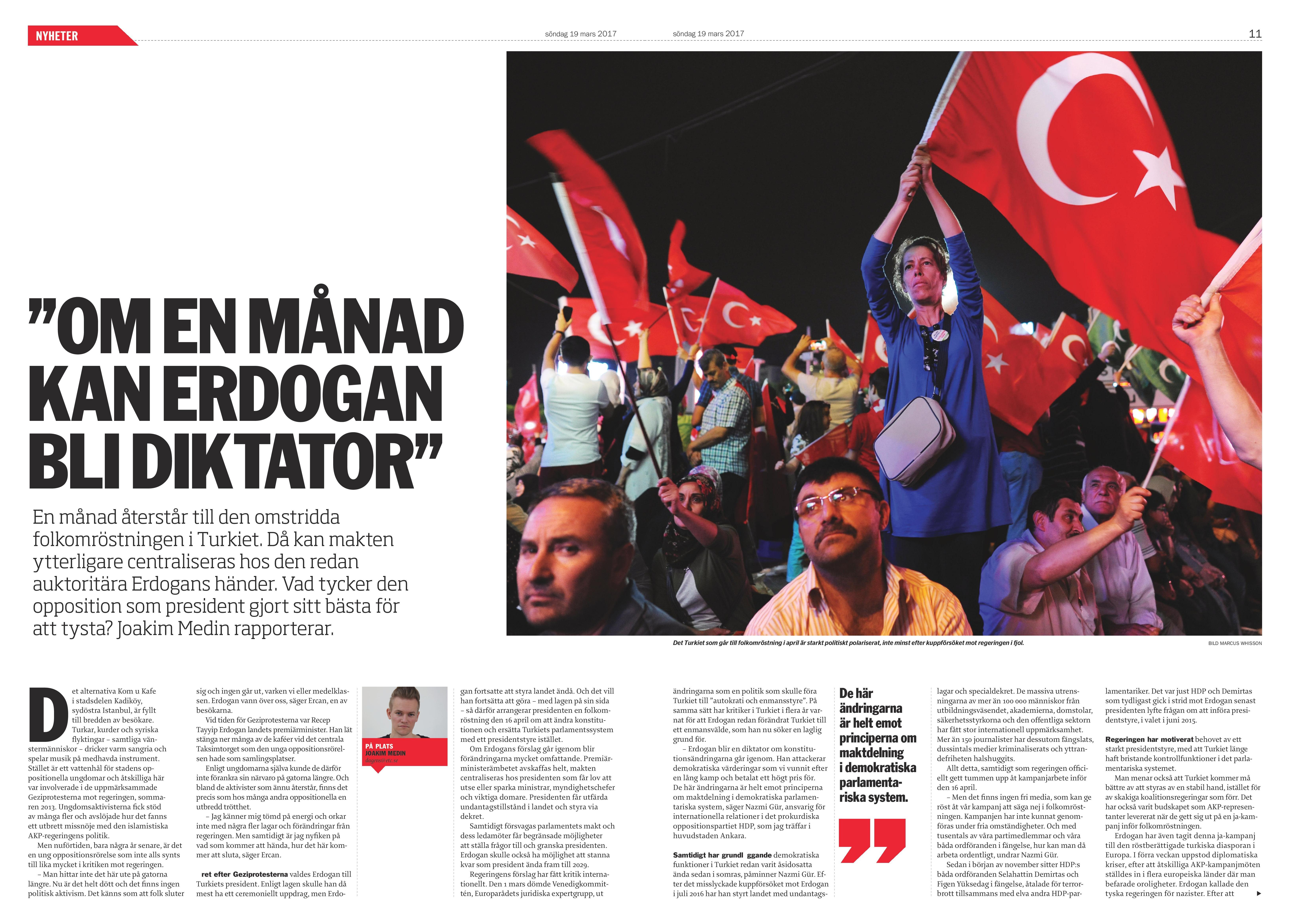 Turkiet, Dagens ETC, 2017-03-19
