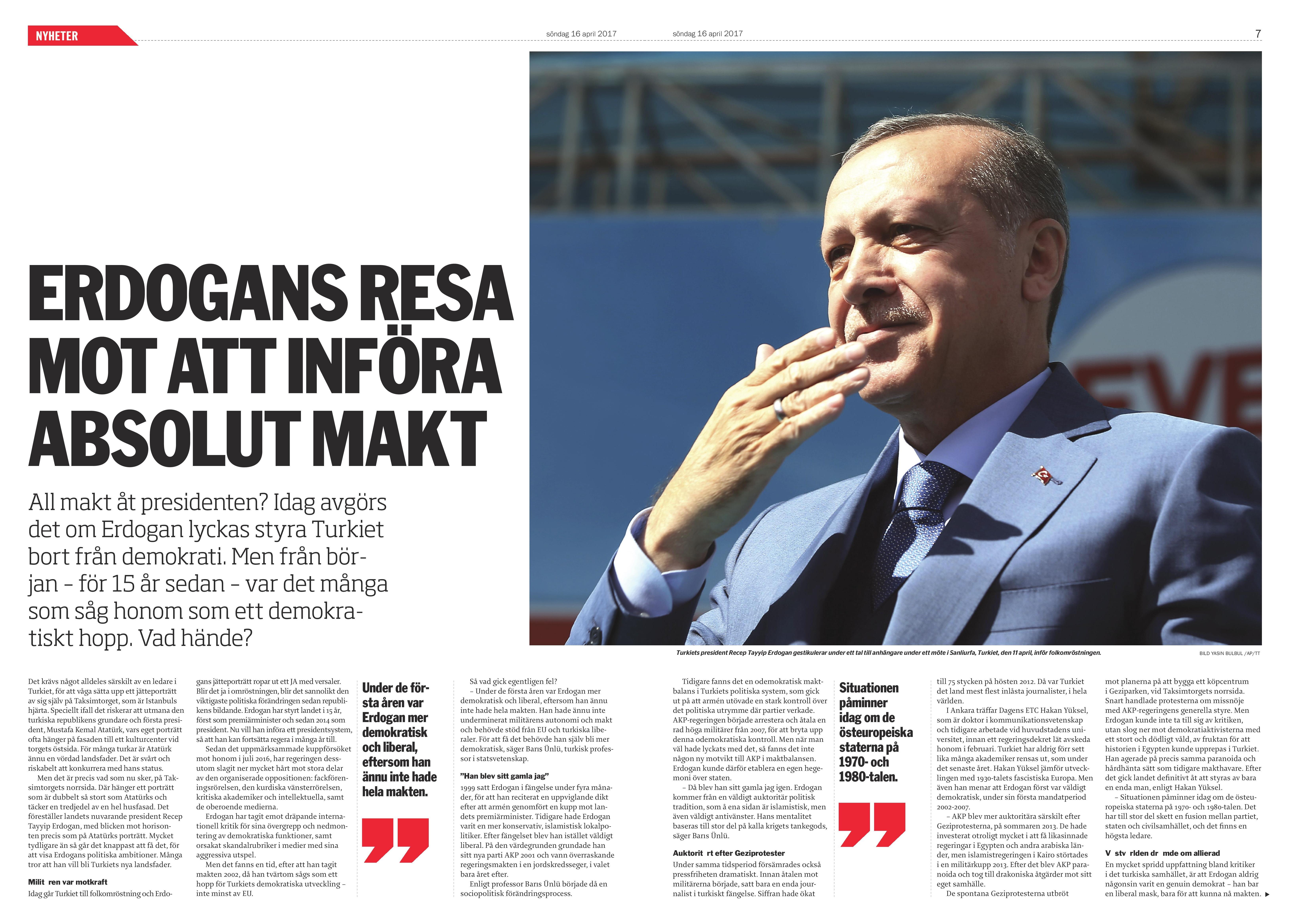 Turkiet, Dagens ETC 2017-04-16