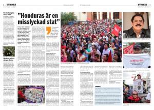 Honduras, Fria Tidningen juli 2014-page-001