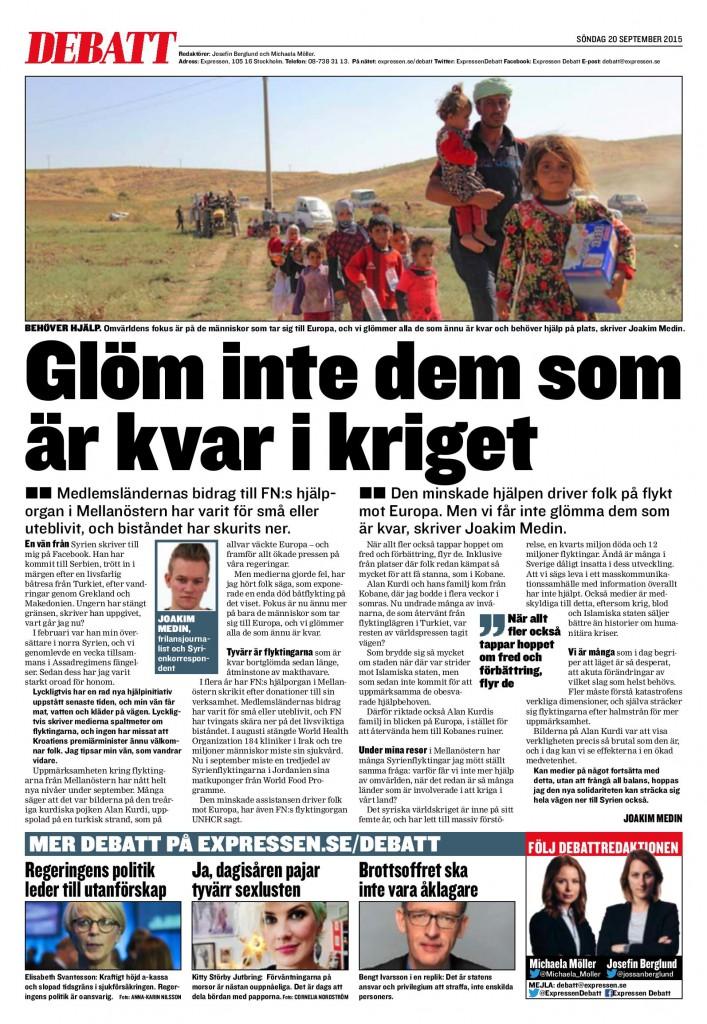 Syrien, Expressen 2015-09-20-page-001