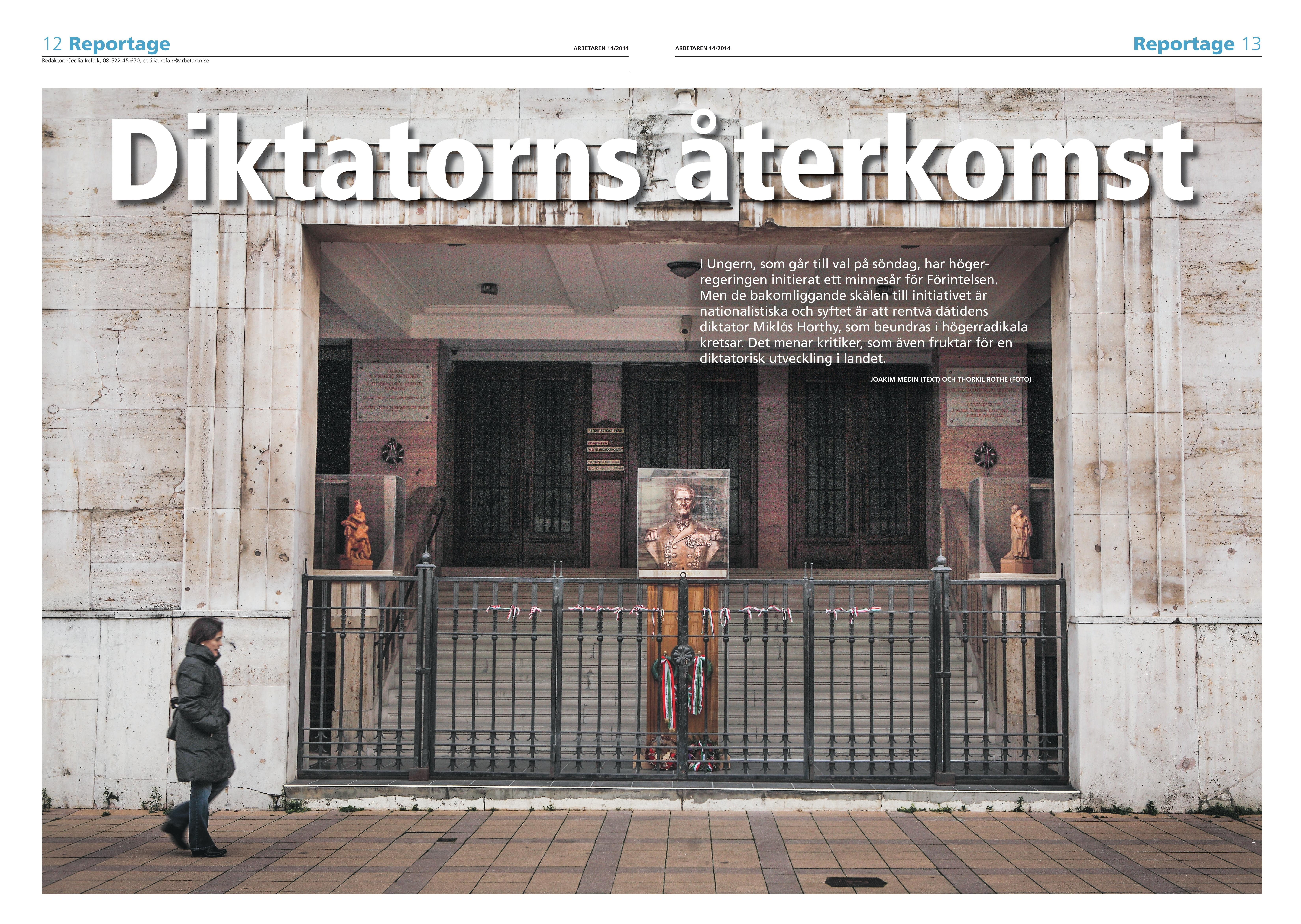 Ungern, Arbetaren april 2014