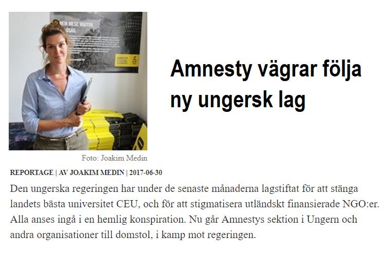 AP_Amnesty vägrar följa ny ungersk lag