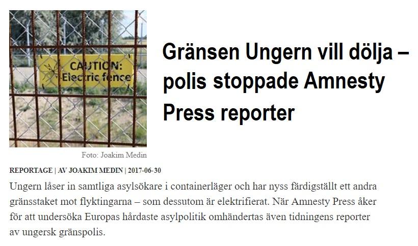 Amnesty Press_Gränsen Ungern vill dölja
