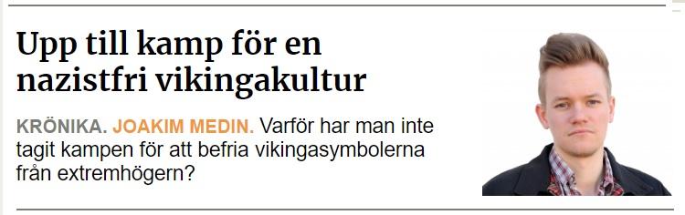 Upp till kamp för en nazistfri vikingakultur