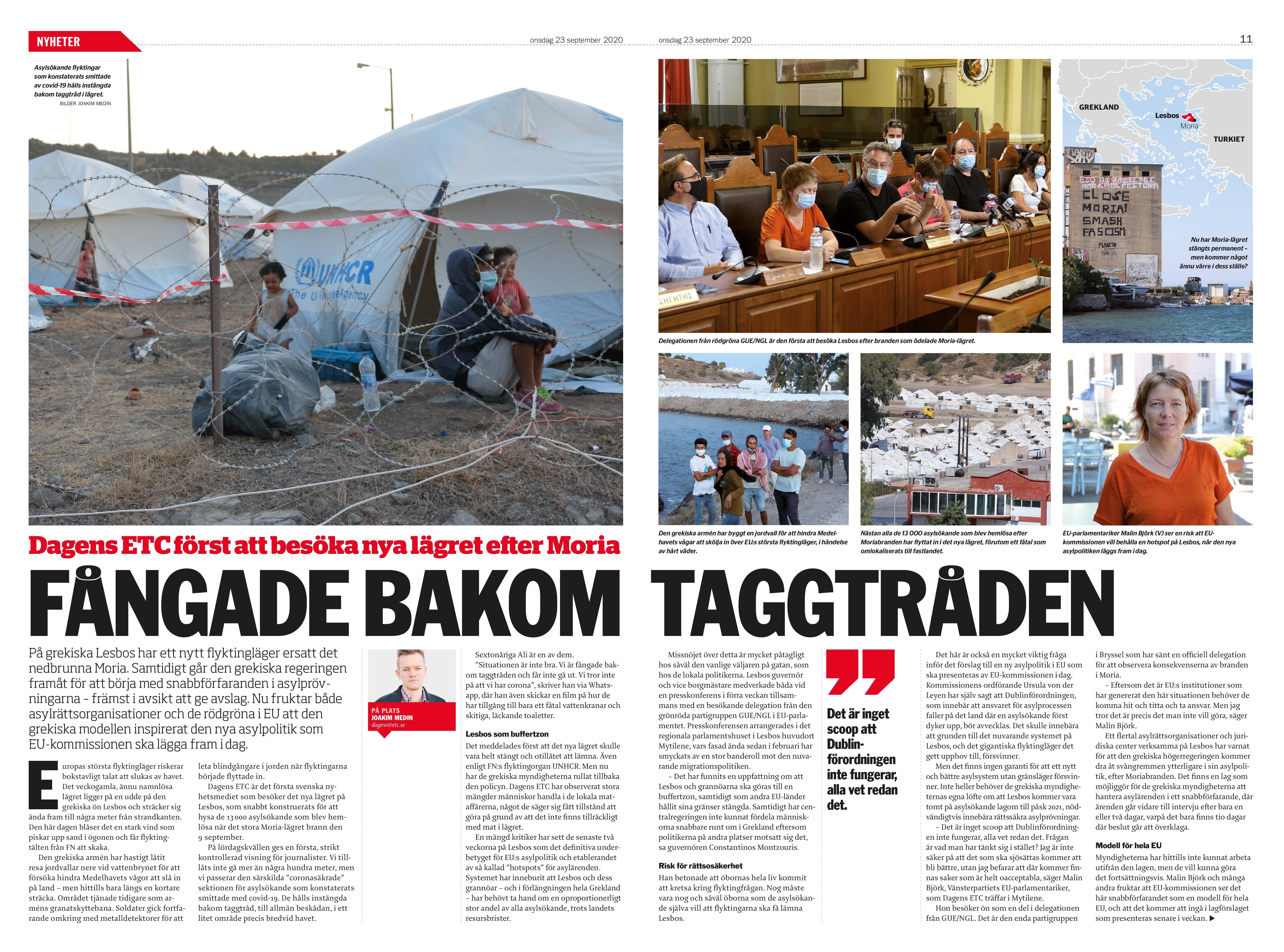 Grekland, Dagens ETC 2020-09-23