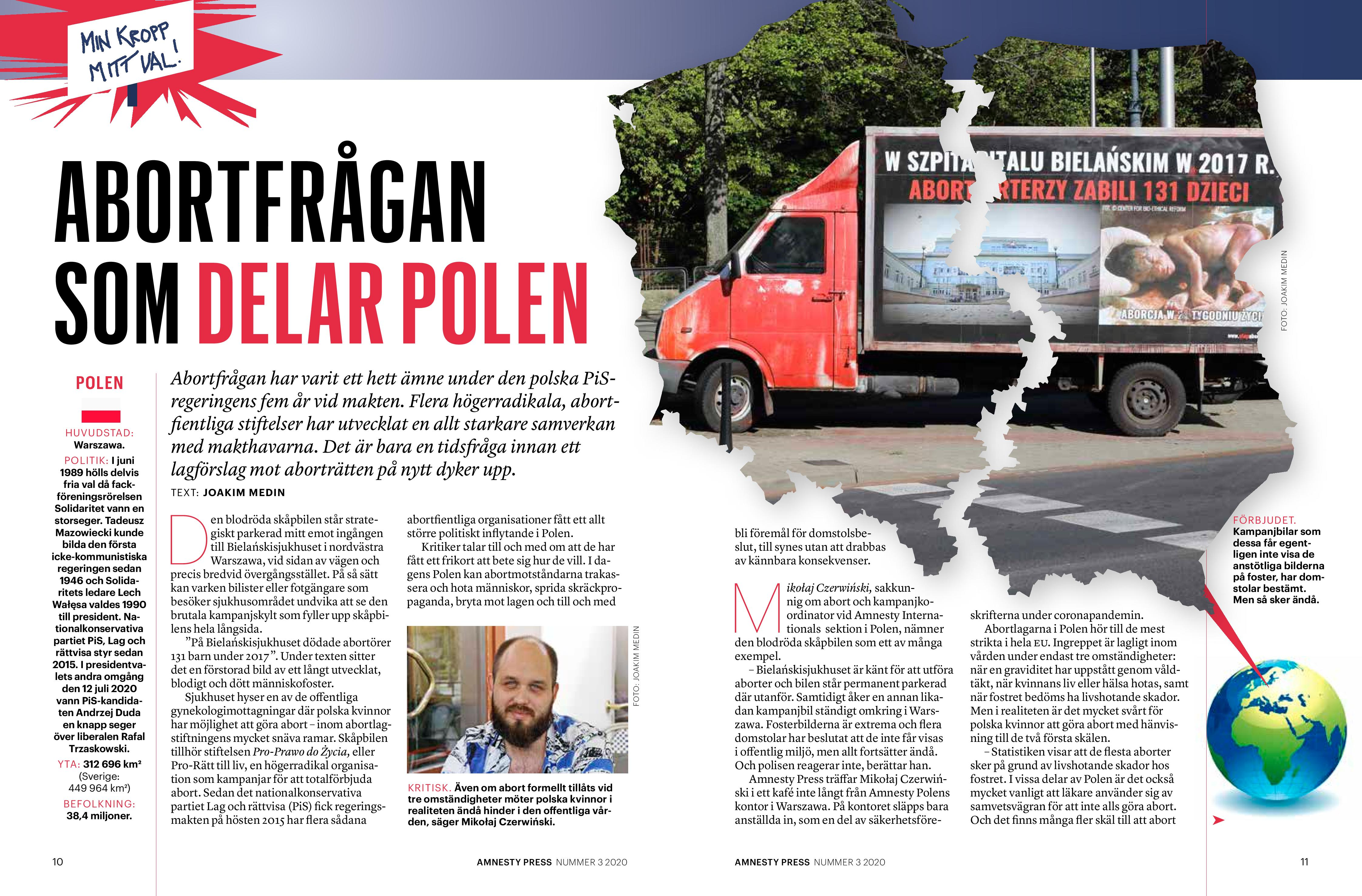 Polen, Amnesty Press sep 2020