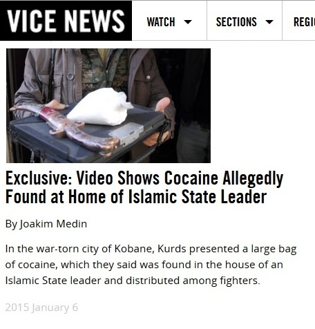 Cocaine Islamic State, Vice News Jan. 2015