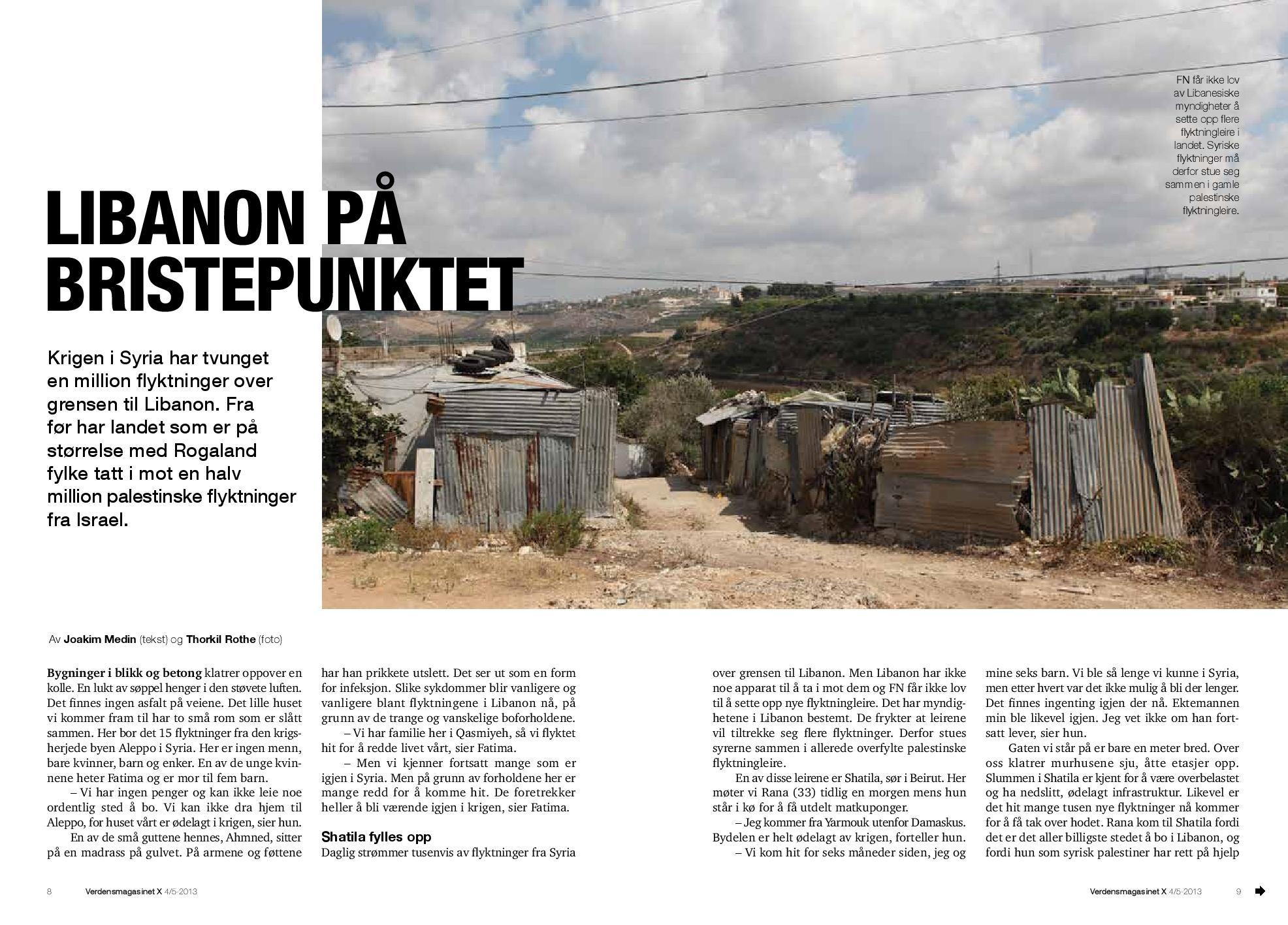 Libanon på bristepunktet, X Mag