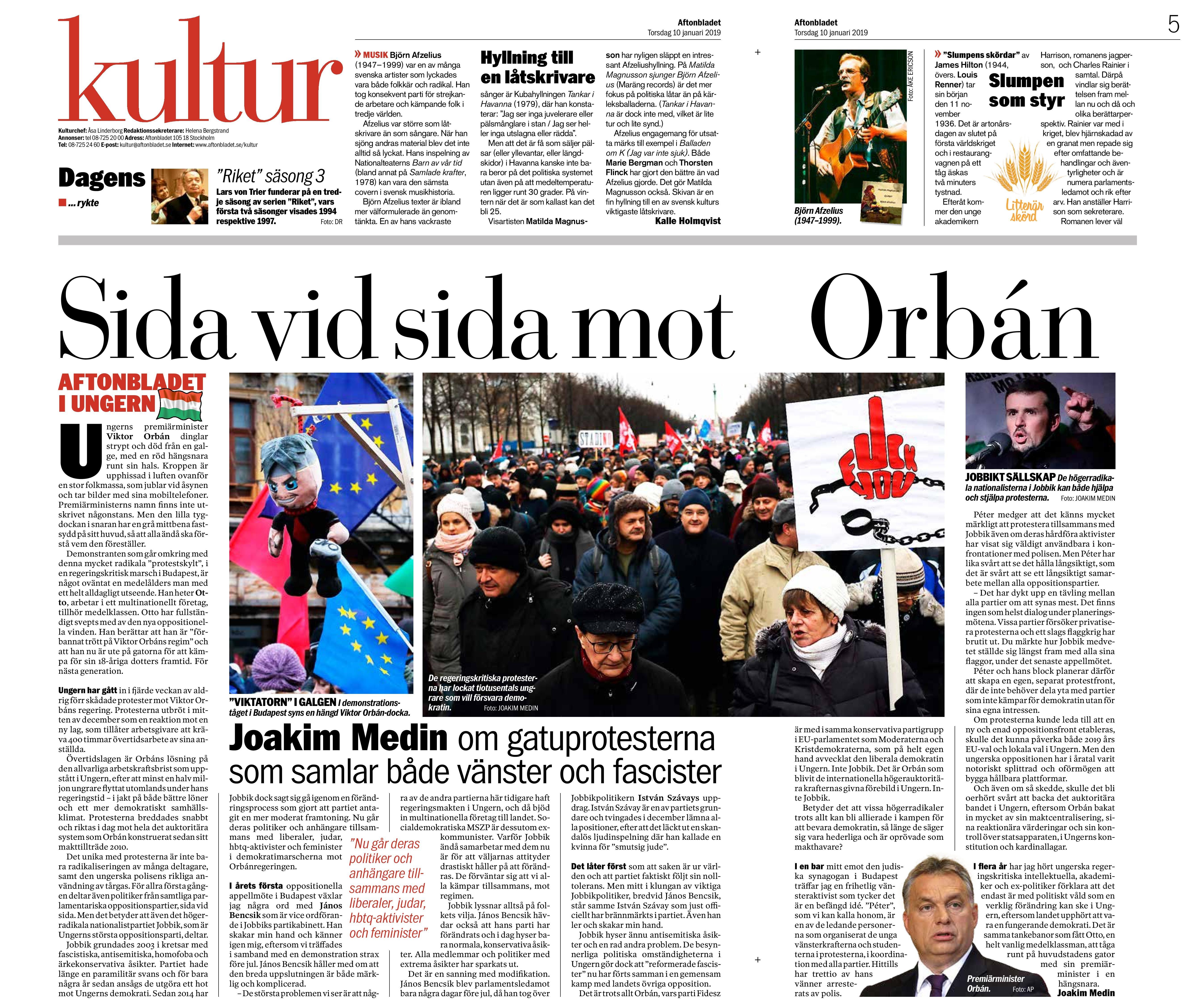 Ungern, Aftonbladet 20190110