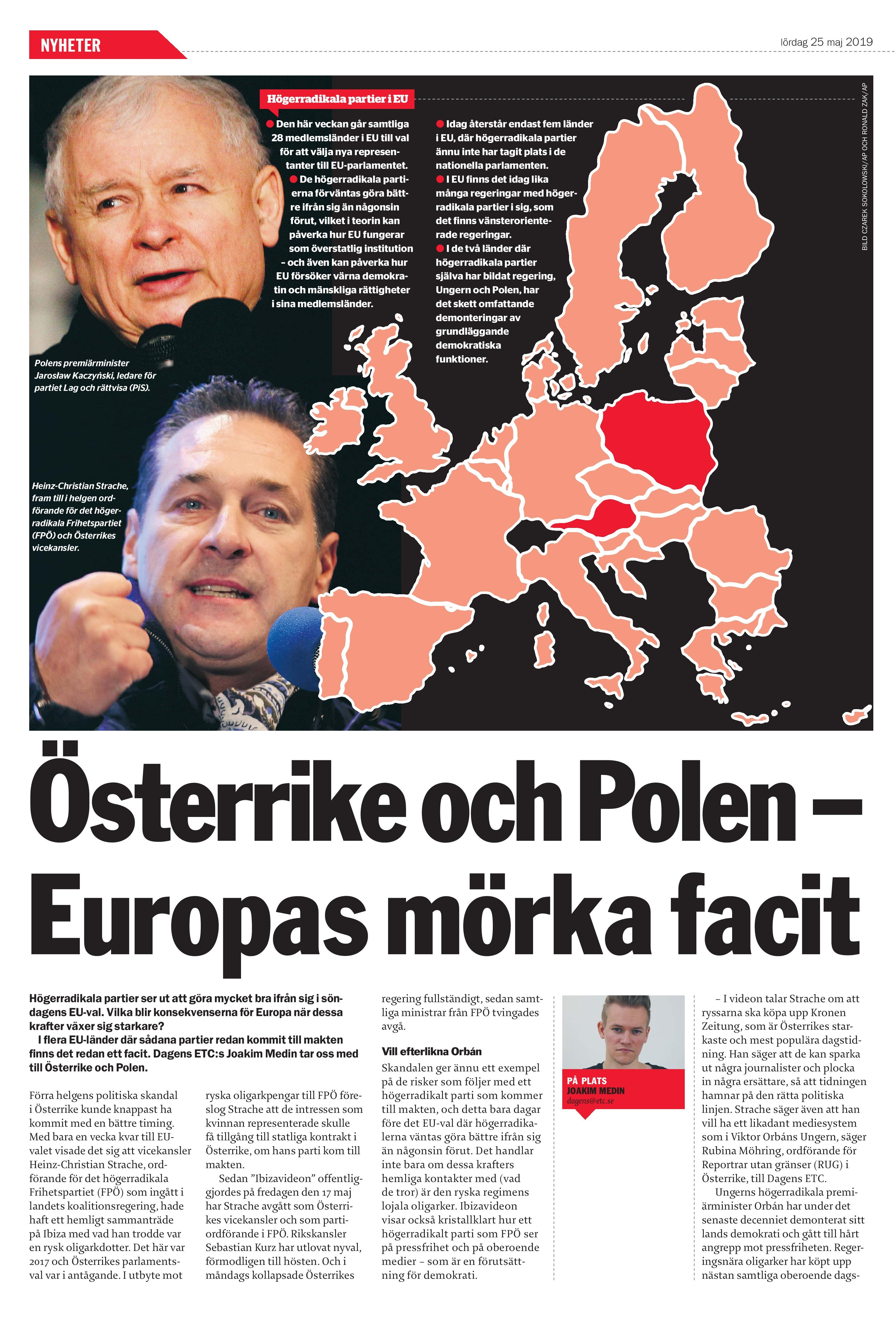 Polen & Österrike, Dagens ETC 2019-05-25