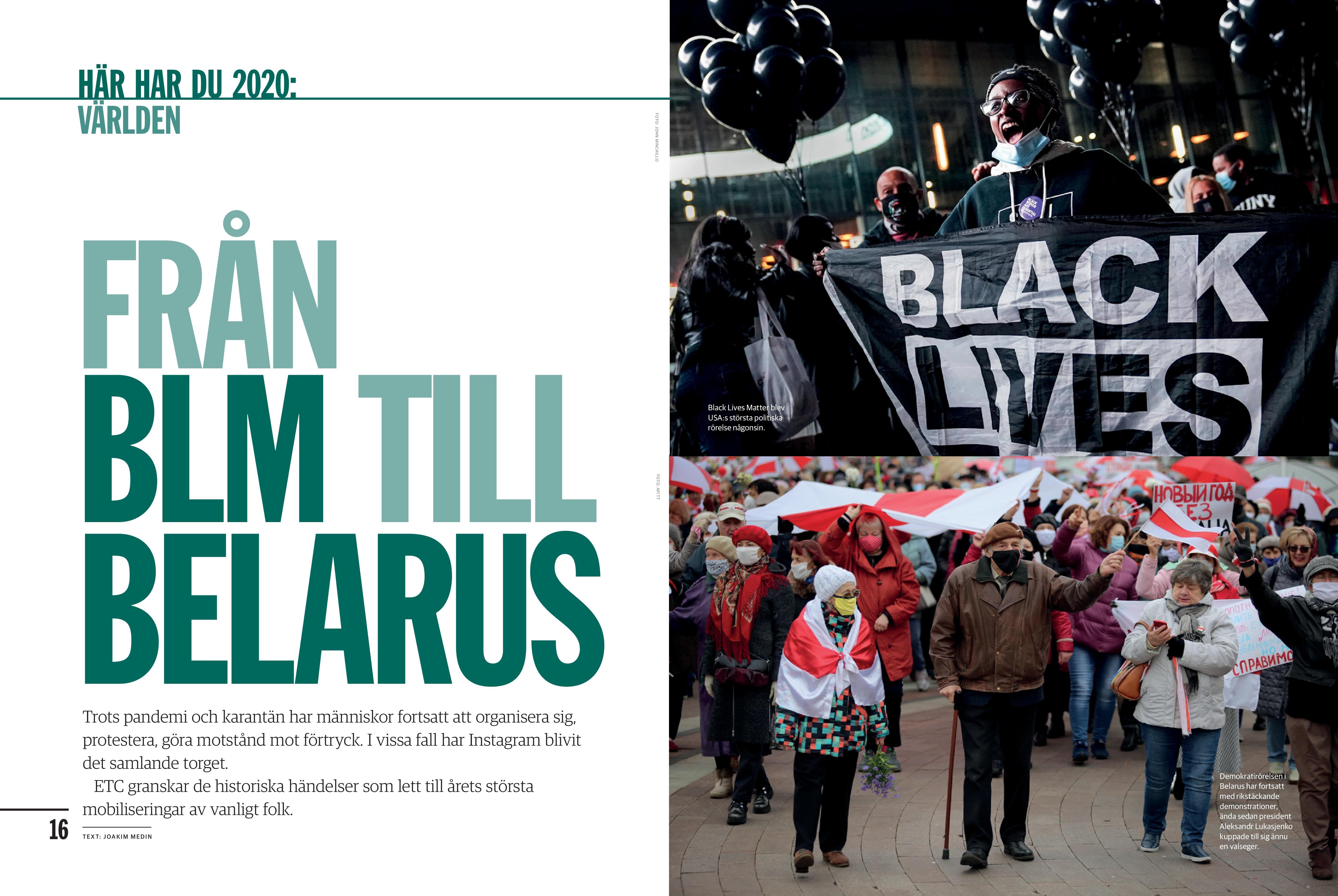 Från BLM till Belarus - Proteståret 2020, Nyhetsmagasinet ETC 2020-12-31